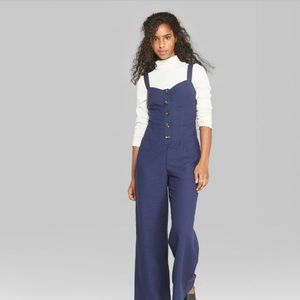 WILD FABLE JUMPSUIT NAVY BLUE/BUTTONED